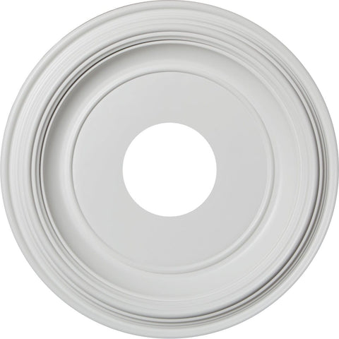 "Thermoformed PVC Ceiling Medallion (Fits Canopies up to 7 1/2""), 13""OD x 3 1/2""ID x 1 1/4""P"