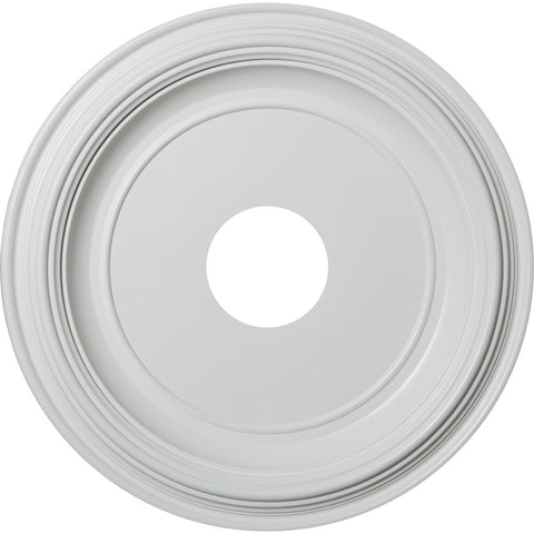 "Thermoformed PVC Ceiling Medallion (Fits Canopies up to 9 1/2""), 16""OD x 3 1/2""ID x 1 3/8""P"