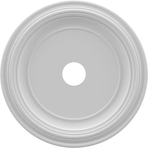 "Thermoformed PVC Ceiling Medallion (Fits Canopies up to 13 1/2""), 22""OD x 3 1/2""ID x 1 1/2""P"