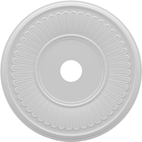 "Thermoformed PVC Ceiling Medallion (Fits Canopies up to 10 1/8""), 22""OD x 3 1/2""ID x 1""P"