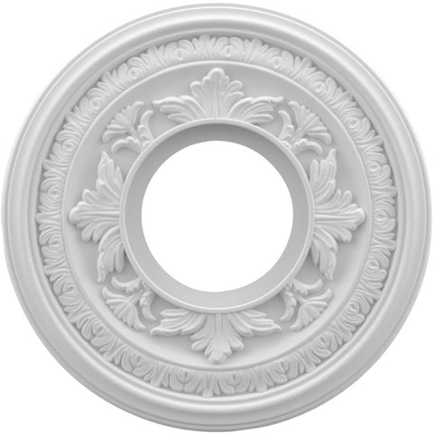 "Thermoformed PVC Ceiling Medallion (Fits Canopies up to 4 1/4""), 10""OD x 3 1/2""ID x 3/4""P"