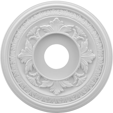 "Thermoformed PVC Ceiling Medallion (Fits Canopies up to 6 1/2""), 16""OD x 3 1/2""ID x 1""P"