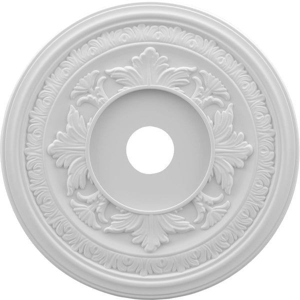 "Thermoformed PVC Ceiling Medallion (Fits Canopies up to 7 3/4""), 19""OD x 3 1/2""ID x 1""P"