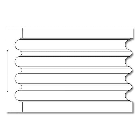 Fluted Casing, 4''w x 3/4''d