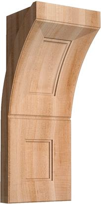 "Art Collection, Art Deco Corbel, 9""w x 22 1/2""h x 8''d"