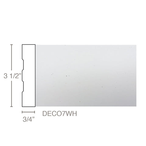 "Deco7 - Case, 3/4""W x 3 1/2""D x 16'L, Box (9 pcs 16', 144 LF), SEE FREIGHT NOTES UNDER DESCRIPTION, Freight starts at $110 per box"