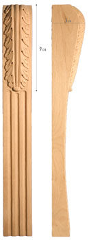 "Traditional Collection, Traditional Leg, 3""w x 26'""h x 3 1/4''d"