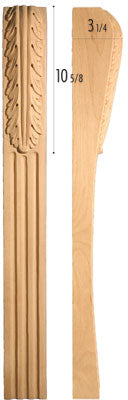"Traditional Collection, Traditional Leg,  3""w x 30 1/4'""h x 3 1/4''d"