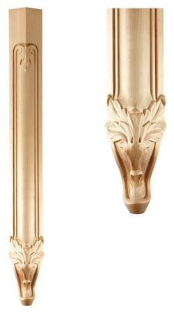 Traditional Collection Traditional Leg 3 1 2 W X 34 1 2 H X 3 1 2 Mouldings Com