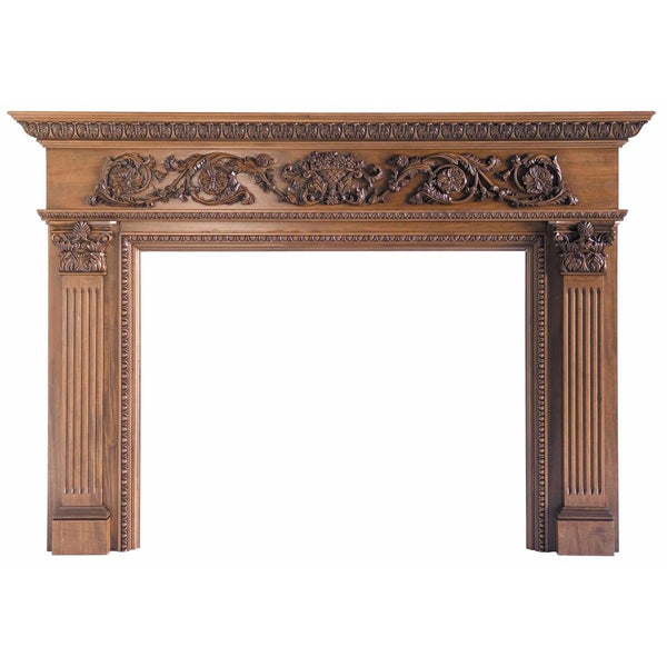 "Rinceau Scrolls with Floral Basket Full Surround, 81""w x 57""h x 8""d"
