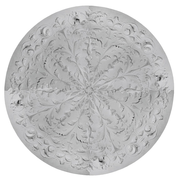 "Italian Medallion, Plaster, 66""w x 66""h x 2""d, Made to Order, Not Returnable. Sold as 4 pieces."