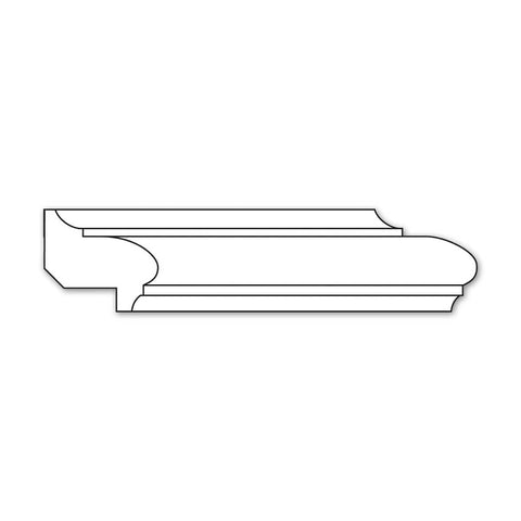 "Traditional Panel Moulding (Lips 3/4), 1 3/8""w x 3/4''d"