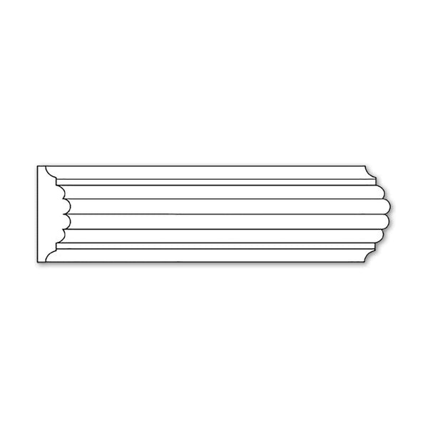Reeded Panel Moulding, 1 5/8''w x 9/16''d