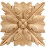 "Traditional Collection, Traditional Rosette, 4""w x 4""h x 5/8''d"