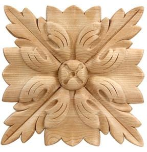 "Traditional Collection, Traditional Rosette,  6""w x 6""h x 5/8''d"