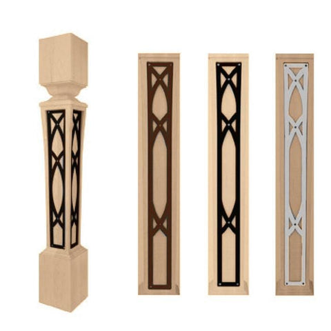 "Abbey Bar Column Insert Set, 3 7/16"" x 1/8"" x 20 7/8"" length"