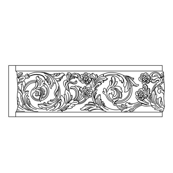 "Custom Frieze, 3/4"" x 5 1/2"" x MT= 7/8, Poplar"