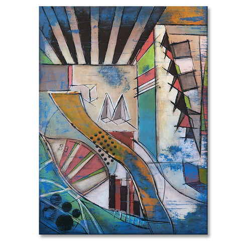 "Divine Realm, 40""H x 30""W acrylic abstract painting on 1 ½"" wrapped canvas. Only one available."