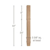 "Transitional Square Bar Column, 3 3/8""sq. x 42""h"