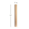 "Contemporary Straight Square Bar Column, 3""sq. x 42""h"