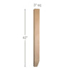 "Shaker Tapered Square Bar Column, 3""sq. x 42""h"