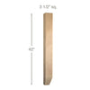 "Shaker Tapered Square Bar Column, 3 1/2""sq. x 42""h"