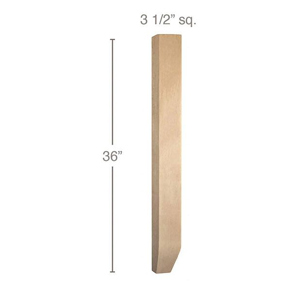 "Shaker Tapered Square Island Column, 3 1/2""sq. x 36""h"
