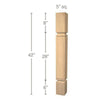 "Mission Cam Bar Column, 5""sq. x 42""h"