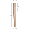 "Contemporary 2 sided Tapered Square Island Column, 3  1/2""sq. x 36""h"