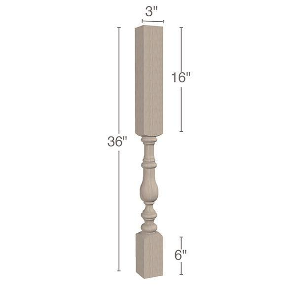 "Tapered Vanity Leg, 3""sq. x 36""h"