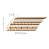Bead with Dentil, 5 3/16''w x 13/16''d