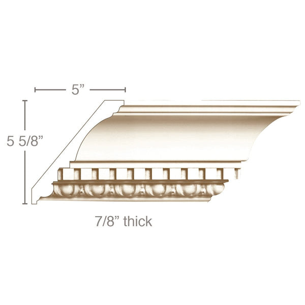 Egg and Dart with Dentil, 7 1/2''w x 7/8''d