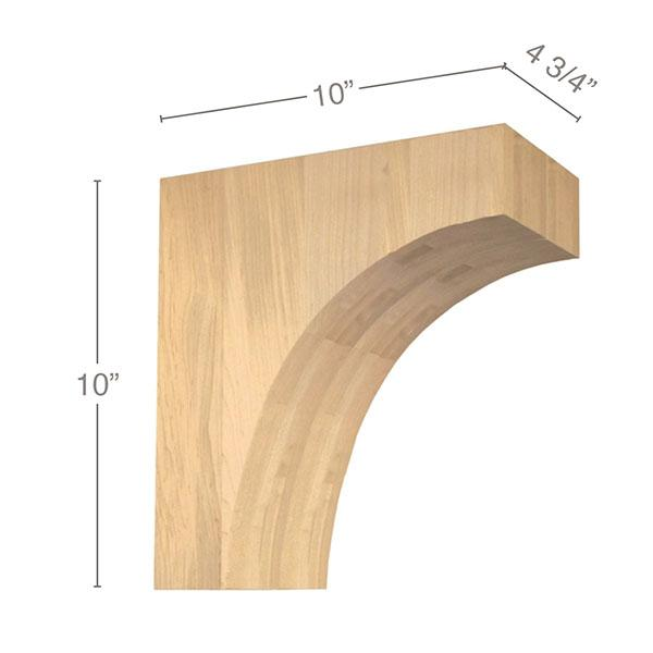 "Contemporary Overhang Bar Bracket Corbel, 4 3/4""w x 10""h x 10""d"