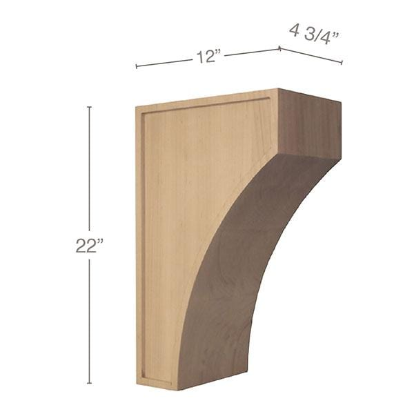 "Mission Extra Large Corbel, 4 3/4""w x 22""h x 12""d"