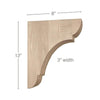 "Classic Large Bar Bracket Corbel, 3""w x 12""h x 8""d"