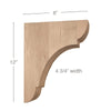 "Classic Large Bar Bracket Corbel, 4 3/4""w x 12""h x 8""d"