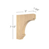 "Cavetto Small Bar Bracket, 1  3/4""w x 7  1/2""h x 5""d"