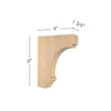 "Cavetto Extra Small Bar Bracket, 1  3/4""w x 6""h x 4""d"