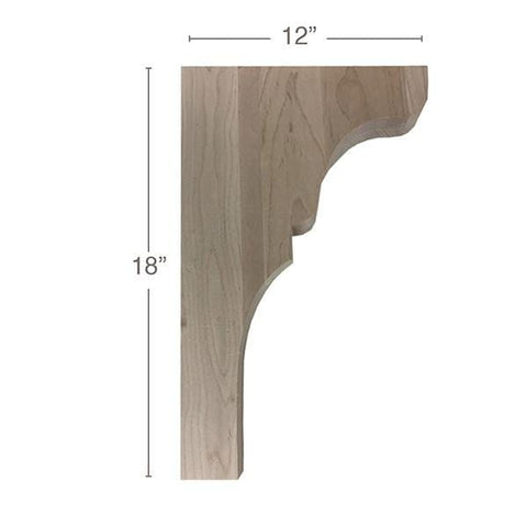 "Transitional Trim To Fit Corbel, 1  3/4""w x 18""h x 12""d"