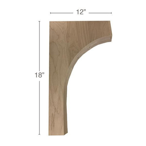 "Contemporary Trim To Fit Corbel, 1  3/4""w x 18""h x 12""d"