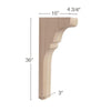 "Transitional Trim To Fit Corbel, 4  3/4""w x 36""h x 16""d"