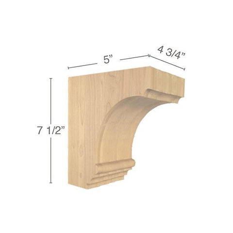 "Cavetto Small Bar Bracket, 4  3/4""w x 7  1/2""h x 5""d"