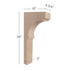 "Cavetto Trim To Fit Corbel, 4  3/4""w x 36""h x 16""d"