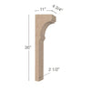 "Cavetto Trim To Fit Corbel - Low Profile, 4  3/4""w x 36""h x 11""d"