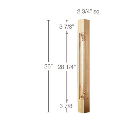 "36"" Filigree Corner Post, 2 3/4""sq. x 36""h"