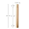 "36"" Traditional Corner Post, 2 3/4""sq. x 36""h"