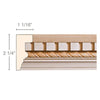 Dentil with Rope, 2 1/4''w x 1 1/16''d