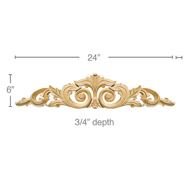 Large Acanthus With Scrolls 24 W X 6 H X 3 4 D Mouldings Com