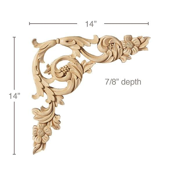 Floral Acanthus Scrolls Sold Left And Right Per Card 14 W X 14 H Mouldings Com