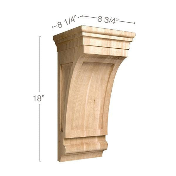 "Extra Large Mission Corbel, 8 3/4""w x 18""h x 8 1/4""d"